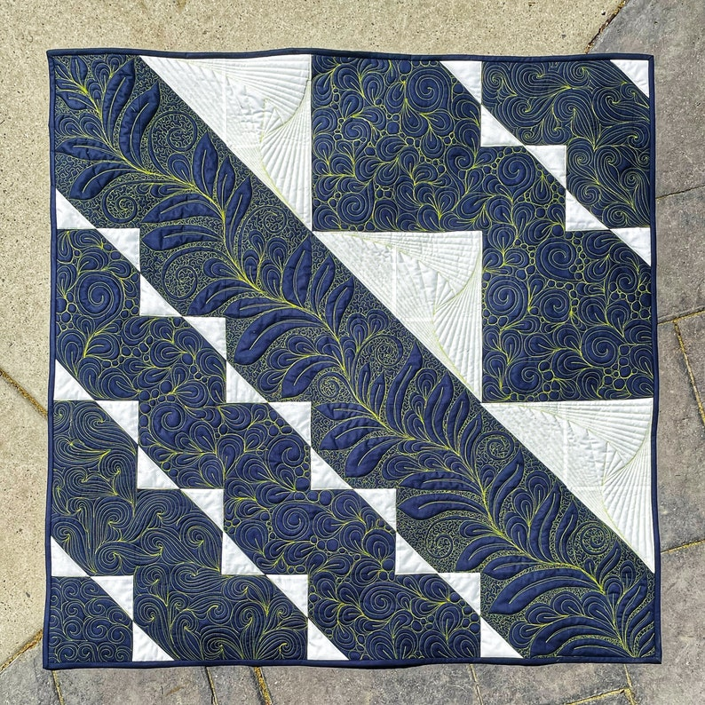 Tri Again PDF Quilt Pattern by Oh Kaye Quilting image 0