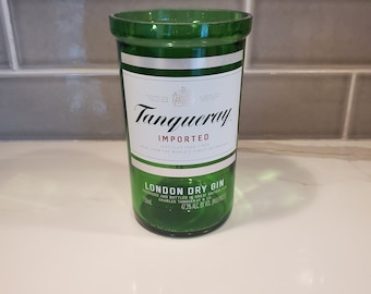 Tanqueray 750ml Hand Cut Upcycled Liquor Bottle Candle - Choose Your Scent