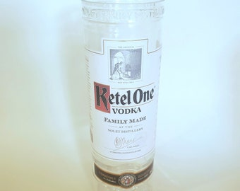 Ketel One Vodka - 750ml Hand Cut Upcycled Liquor Bottle Candle - Choose Your Scent