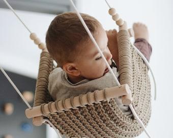Baby swing, kids swing, crochet handmade baby swing chair, hammock chair, baby shower gift, indoor swing
