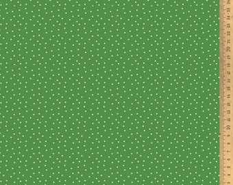 Acufactum cotton fabric polka dots green-white 145 cm wide 0.5 m