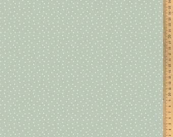 Acufactum cotton fabric polka dots grey-green /white 145 cm wide 0.5 m