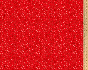 Acufactum cotton fabric polka dots red-white 145 cm wide 0.5 m