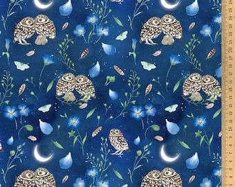 BW fabric Nachteulen 145 cm wide Daniela Drescher Acufactum