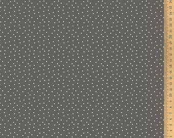 Acufactum cotton fabric polka dots grey-brown 145 cm wide 0.5 m