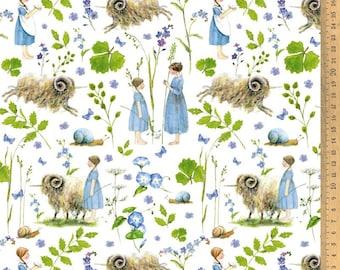 Acufactum Cotton Fabric Unicorn Sheep 0.50 m Design by Daniela Drescher