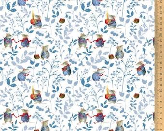 BW fabric mouse blue 145 cm wide Daniela Drescher Acufactum