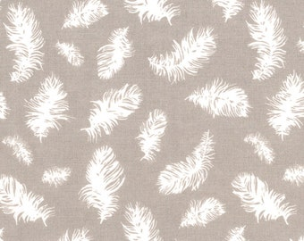Westfalenstoff Series Kyoto Feathers taupe 0.50 cm x 150 cm