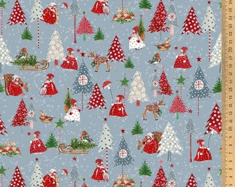 Acufactum cotton fabric Winter children 145 cm wide Design Kerstin Heß