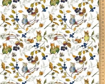 Acufactum cotton fabric hedge mice 145 cm wide 0.5 m Design Daniela Drescher
