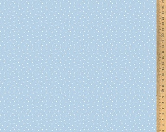 Acufactum cotton fabric polka dots light blue-white 145 cm wide 0.5 m