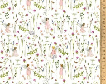 Cotton fabric elven garden pink 145 cm wide Daniela Drescher Acufactum