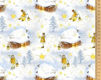 BW fabric star elf 145 cm wide Daniela Drescher Acufactum