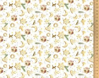 Acufactum cotton fabric Christmas bakery 145 cm wide 0.5 m Design Daniela Drescher