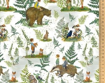 BW fabric forest magic bright 145 cm wide Daniela Drescher Acufactum