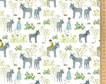 Acufactum cotton fabric favorite donkey 145 cm wide 0.5 m Design Daniela Drescher