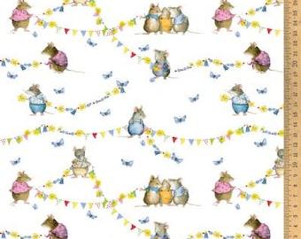 BW fabric mouse summer 145 cm wide Daniela Drescher Acufactum