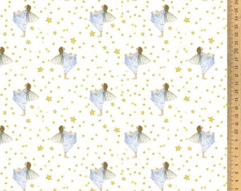 Acufactum Cotton Fabric Star Valley Elf 145 cm wide 0.5 m Design Daniela Drescher