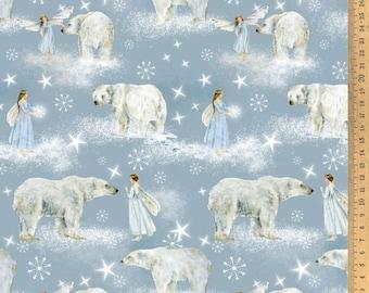 Acufactum cotton fabric polar elves 145 cm wide 0.5 m Design Daniela Drescher