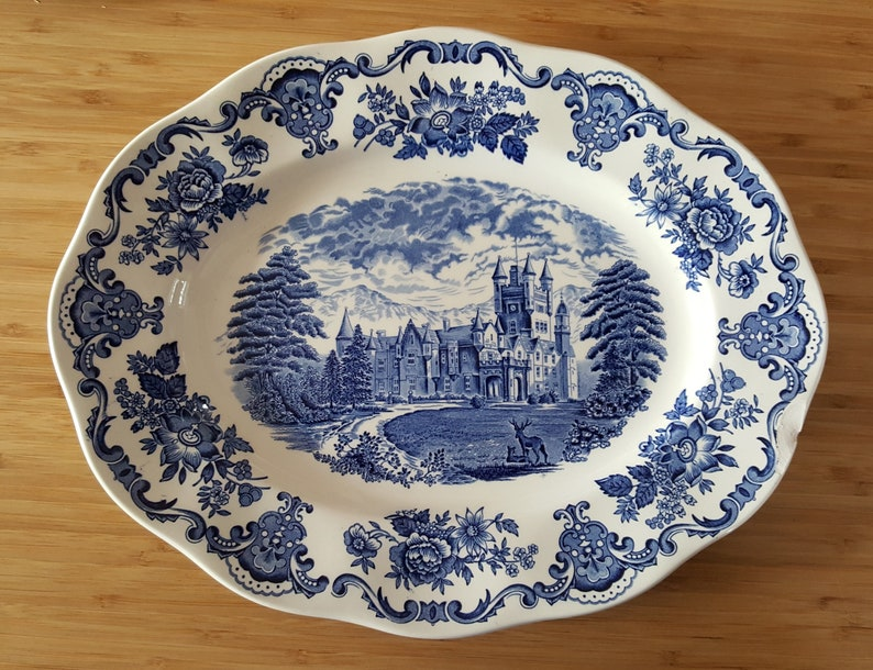 Royal Homes of Britain Tunstall Enoch Wedgwood LTD large serving plate