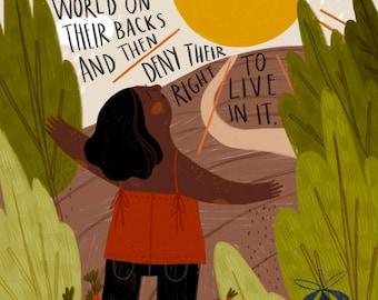 Sunlight Art Print BLM Black Lives Matter Charity Art