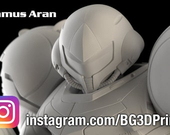 Samus Aran Figurine - Metroid  - 3D Print