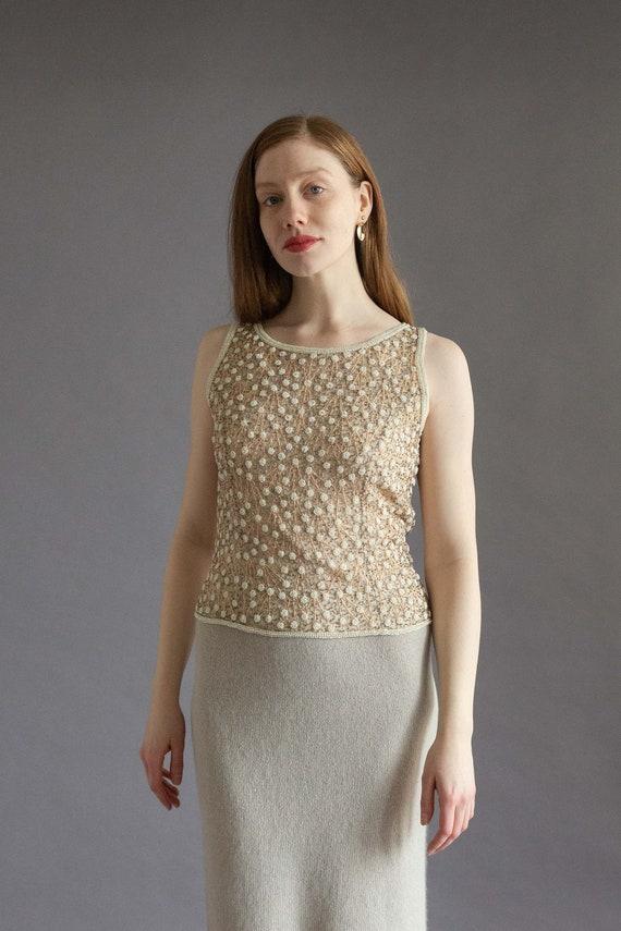Vintage 1990s beaded sleeveless top