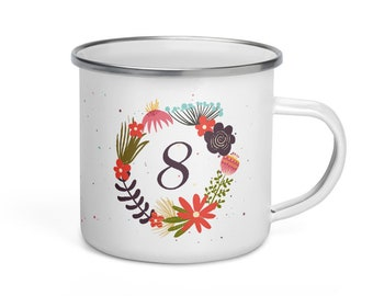 Enamelled Mug - Eningogram 8 - Make way, which I arrive