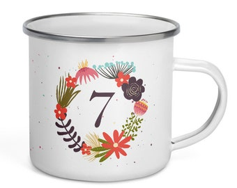 Enamelled Mug - Eneagram 7 - Life Is to Live It!