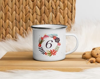 Enamelled Mug - Enegram 6 - Better the Bad Known (than the Good to Know)