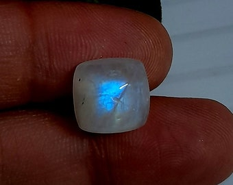 Size 13 MM Approx. AAA+++Rainbow Moonstone Gemstone 2 Pisces Approx Matching Pair Awesome Beautiful Multi Flashy Cushion Shape