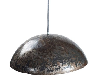 Barigo ceiling lamp in metal - isch: Upcycled lamp made of recyclable oil barrels - The lampshade in industrial look by SwaneDesign