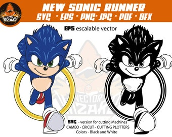 Sonic Vector Etsy