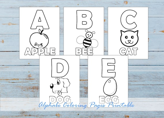 Printable Coloring Pages Alphabet Coloring Pages Print And Etsy