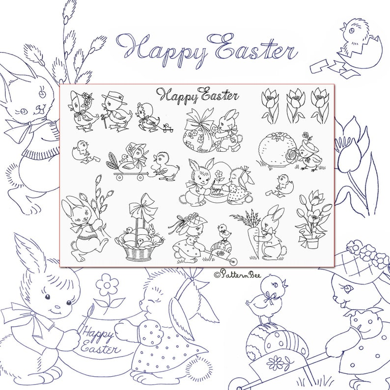 Adorable Easter & Springtime Motifs New IRON-ON Transfer image 0