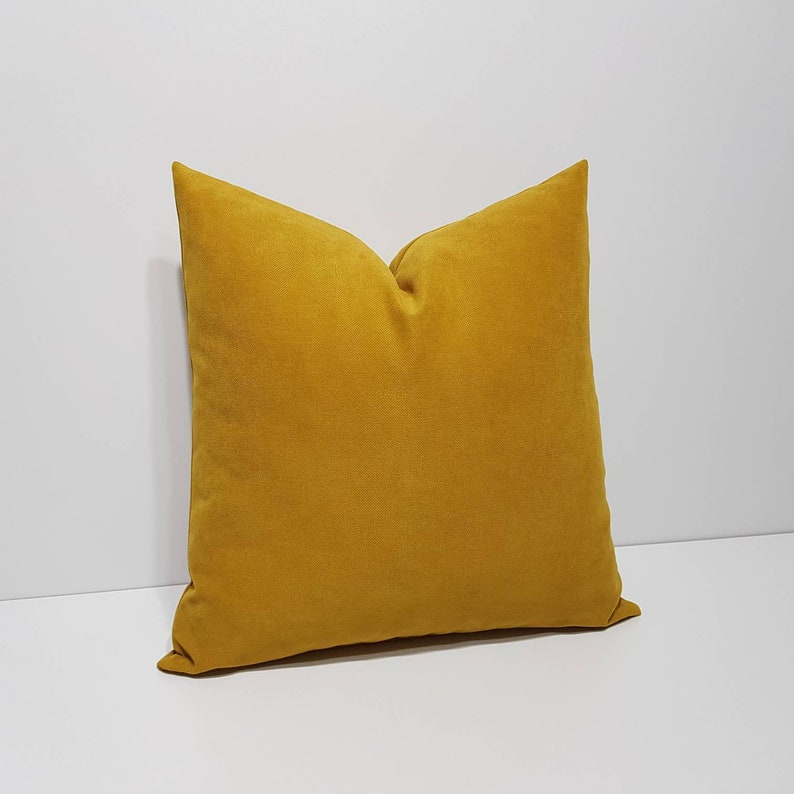 Senf gelb Kissenbezug moderne Sofakissen Senf gelb   Etsy