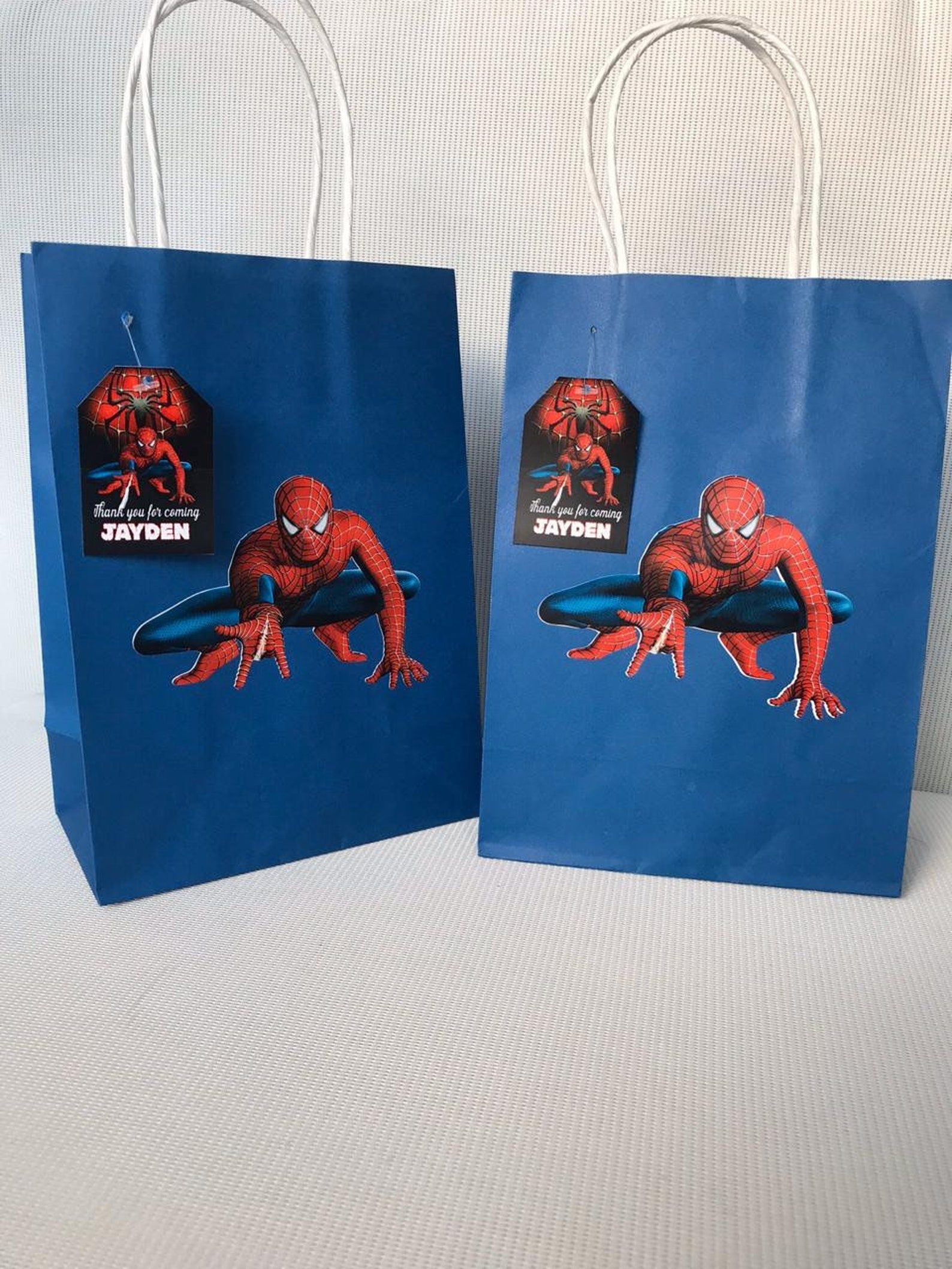 Spiderman Party Favor Bags Page Two