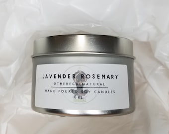 Lavender Rosemary Hand Poured Soy Candle