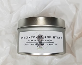 Frankincense & Myrrh Hand Poured Soy Candle