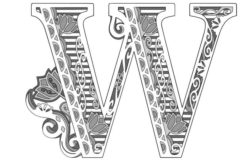 Download 3D Alphabet Layered Mandala W 5 layers SVG file.   Etsy