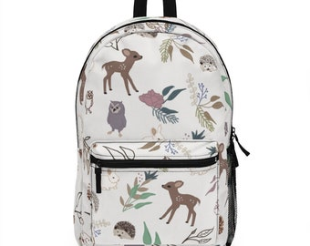woodland backpack-child size backpack-personalized backpack