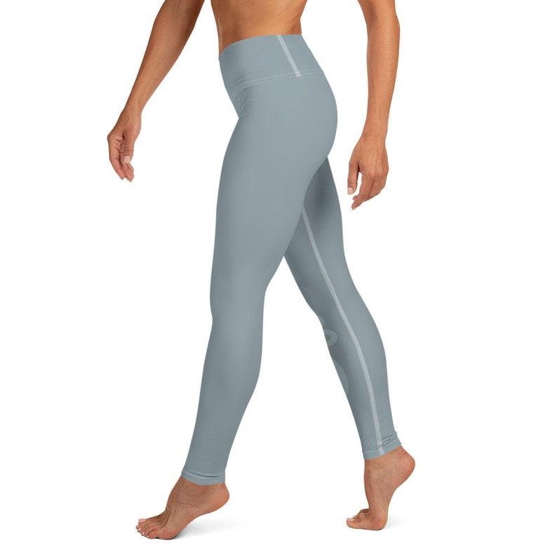 Unalome Soft Blue Yoga Leggings