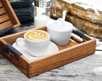 Large Teak Coffee Tray Le Matin