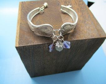 Silverware Jewelry Bracelet,spoon handles, spoon bracelet, bead bracelet, recycled silverware, spoons made into jewelry,silver bracelet
