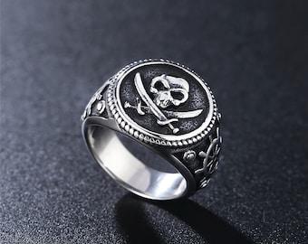 Herrenring Punkrock Glatter Ring für Herren Hip Hop Party Schmuck