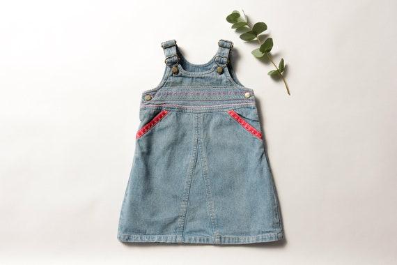 Vintage Kids Wear age 1 - 2 years denim dress jea… - image 1