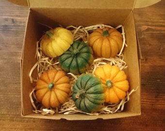 Autumn Pumpkin Bath Chocolates Bath Balls Bath Butter Set Gift Set with Cocoa Butter, Mango Butter & Organic Orange - Juniper Berry Fragrance
