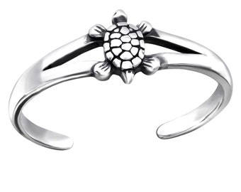 190 Zehenring Zehring Schildkröte 925 Silber Fuss Schmuck Ring