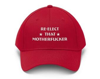 Political Elect That MF/'ER AGAIN Trump 2020 Embroidered Trucker Mesh Snapback Ha