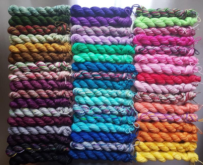 Blanket Love x50 Colours 10g Mini Micro Skeins Sock Yarn image 0